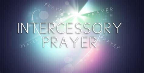 intercessory prayers for church