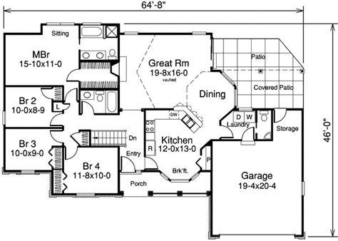 bungalow home floor plans 4 bedroom 2 bath bungalow house plan alp 09hl