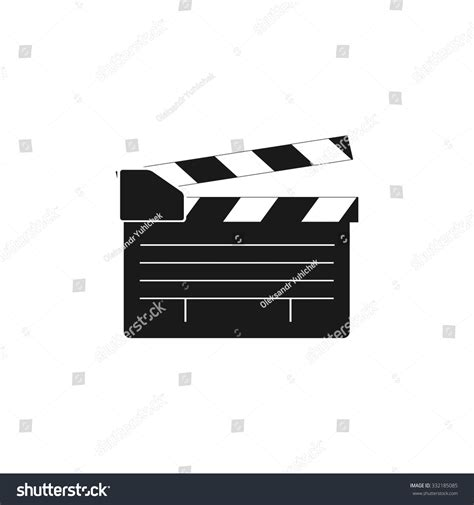 flat design video maker movie clapper board movie maker vector flat design style