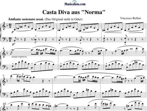 casta spartito casta from quot norma quot vincenzo bellini partituras