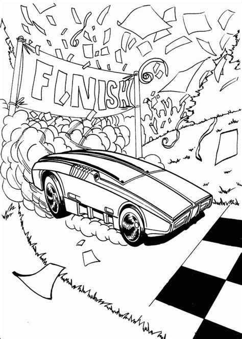 free coloring pages of team hotwheels