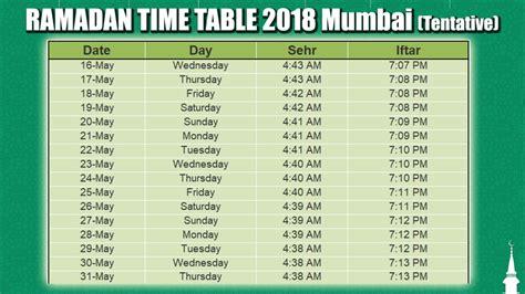 ramadan fasting time in the world 2018 ramadan 2018 time table ramzan timings of mumbai