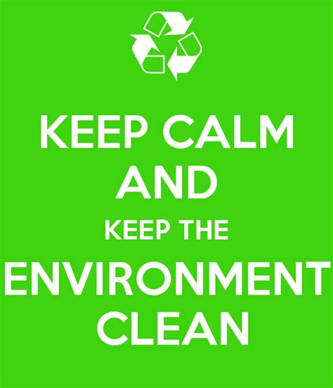 How To Keep The The by Keep Calm And Keep The Environment Clean Poster Miggy