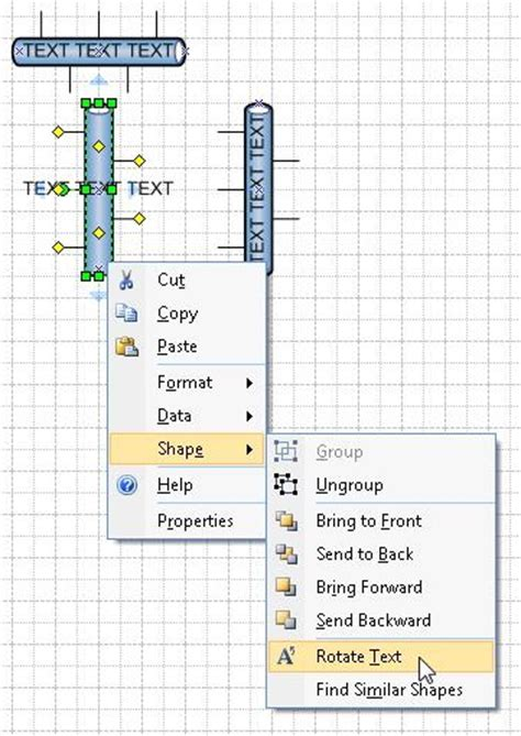 visio flip shape rotating text in an ethernet shape within visio 2007