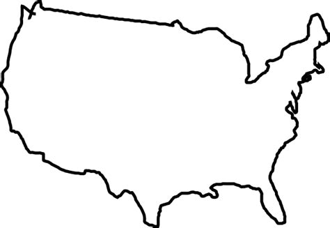 usa map outline clip white map usa clip at clker vector clip