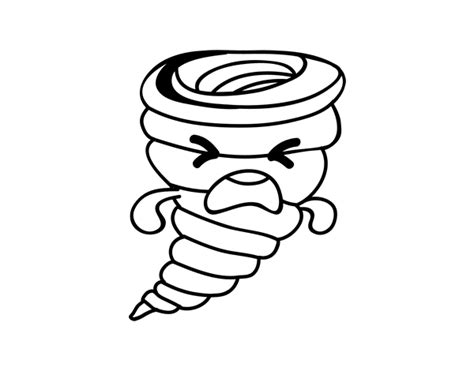 imagenes de kawaii para colorear dibujo de tornado kawaii para colorear dibujos net