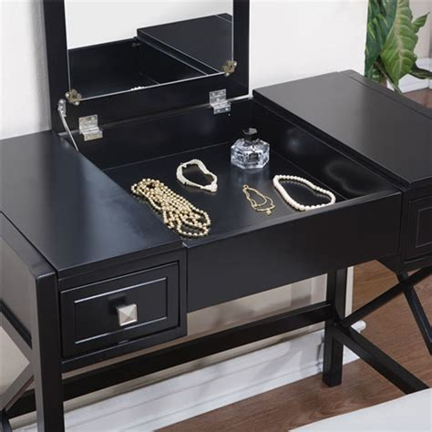 Black Vanity Bench by The Black Vanity Table And Bench