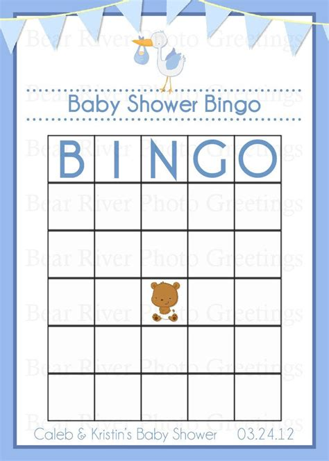 Templates For Baby Shower Bingo | baby shower bingo template free images
