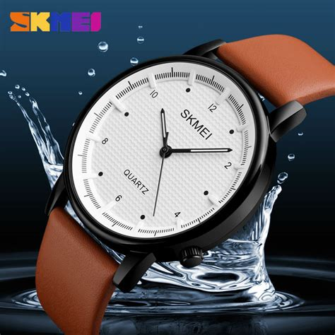 Jam Tangan Analog Maksudnya skmei jam tangan analog pria 1210 brown blue jakartanotebook