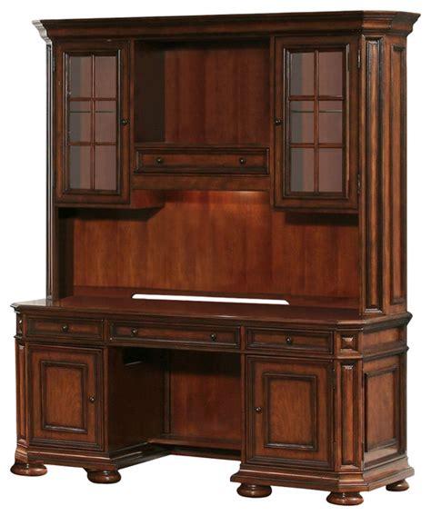 inval credenza computer workstation desk with hutch riverside furniture cantata computer credenza with hutch