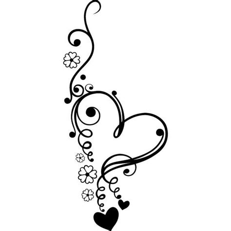 heart and scroll tattoo designs scroll flowers stencil by jennastencils on etsy
