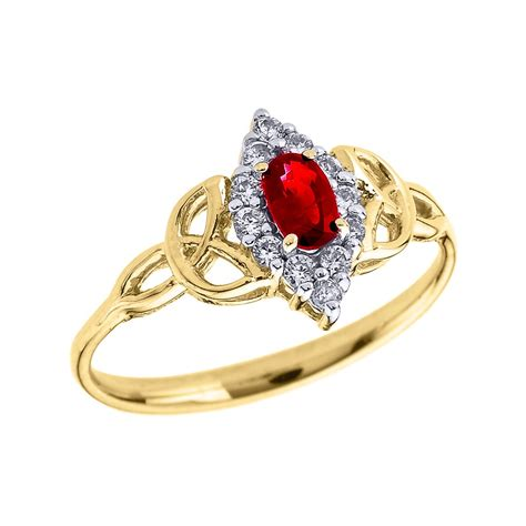 Ruby 6 2ct 0 2ct ruby and oval knot halo engagement