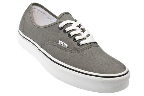 vans authentic grey white mens womens unisex sneakers