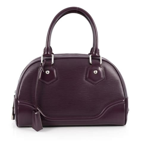 Epi Leather Bowling Montaigne Pm by Buy Louis Vuitton Montaigne Bowling Bag Epi Leather Pm