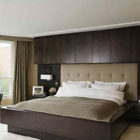 hotel style built  headboard bedroom styles living