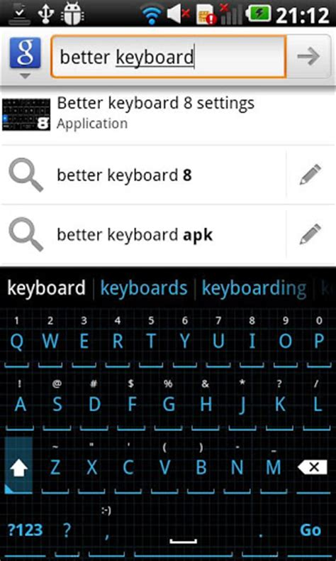 better keyboard apk squared cyan hd keyboard skin v2 android apk files applications bluestacks for android
