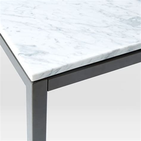 counter table box frame counter table marble west elm