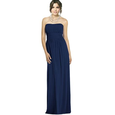 Dress Yachtien strapless chiffon formal cocktail evening gown
