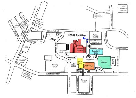 map uc health midtown lac usc center cus map pictures to pin on