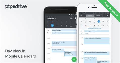 Calendar Mobile Feature Release Day View In Mobile Calendars Pipedrive