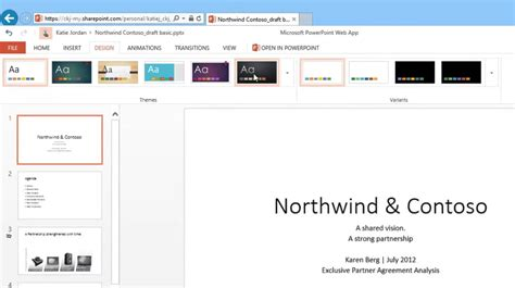 powerpoint themes and variants powerpoint 2013 web app themes and variants youtube