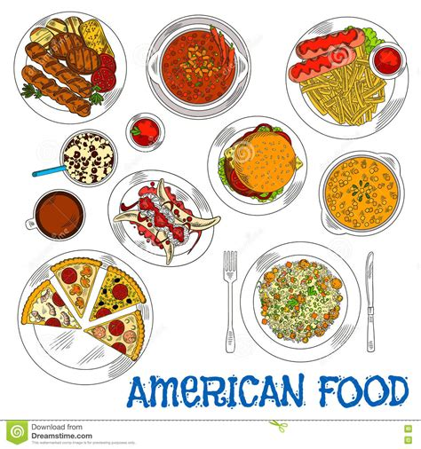 alimenti americani gli alimenti a rapida preparazione americani ed i piatti