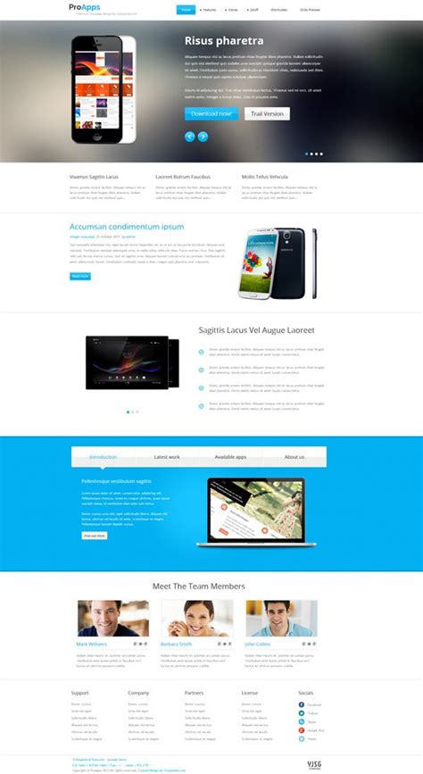 joomla template software design proapps responsive software presentation joomla template