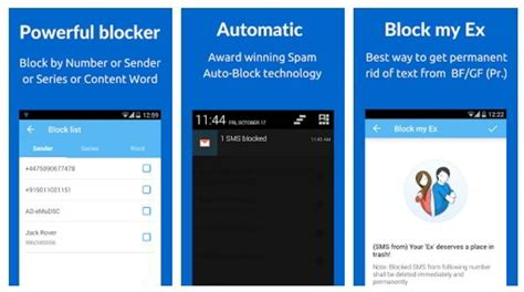 sms blocker for android sms blocker blocks spam and promotional text messages on android