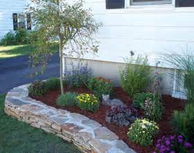 raised flower beds in front of house house pinterest