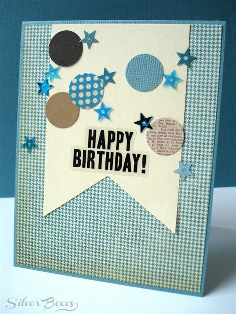 Handmade Birthday Cards For Boys - silver boxes confetti birthday cards