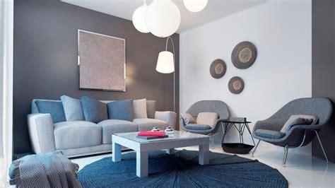 decorar paredes gris claro decoraci 243 n de sal 243 n en azul gris y marr 243 n hogarmania
