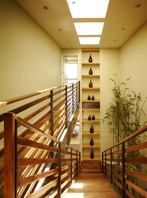 wood railing stair railing designs staircase contemporary with beige