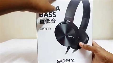 Headphone Sony Mdr Xb450 sony mdr xb450 headphones unboxing review