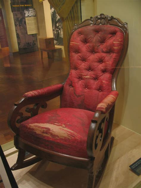 abraham lincoln ford theater chair lincoln s theater seat in free exhibit at the henry