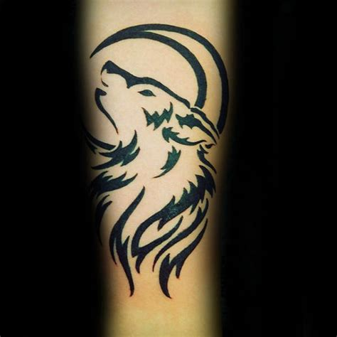 howling wolf tribal tattoo 50 tribal wolf designs for canine ink ideas