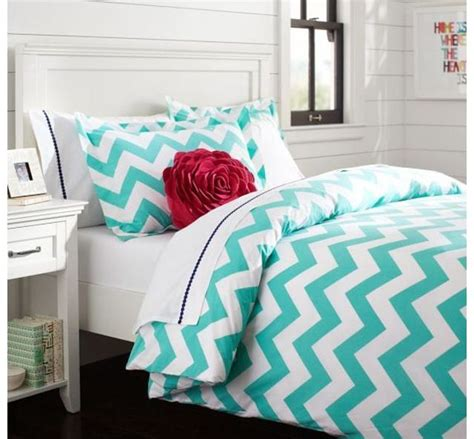 chevron bed sheets pb teen turquoise chevron bedding pb teen pinterest