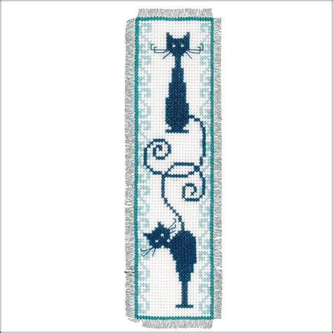 Modele Marque Page Point Croix Gratuit marque page chats espi 232 gles vervaco ve 0146948 broderie