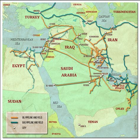 middle eastern oil l analysis oil and gas pipelines in the middle east