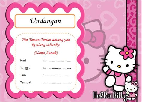 template undangan ulang tahun anak doc contoh undangan ulang tahun untuk anak bisa edit dan siap