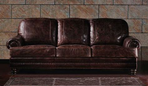 Classic Leather Sofas Uk Chambers Vintage Leather 3 Seater Sofa Luxury Delux Deco