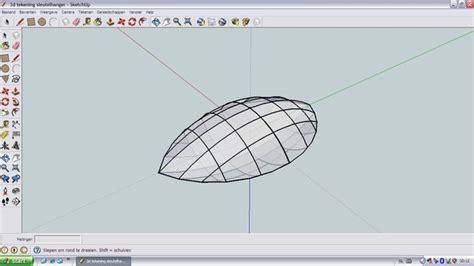 google sketchup tutorial nederlands een quot bolle quot ellips tekenen in google sketchup bokt nl