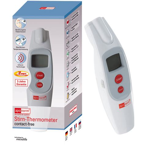 Termometer Microlife aponorm 174 stirn thermometer contact free shop apotheke