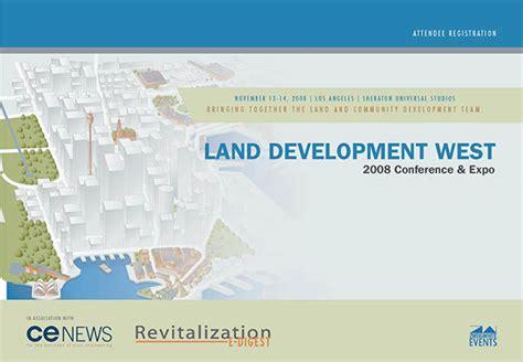 land layout brochure conference brochure for land development design on behance