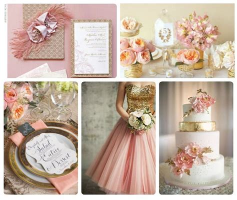 Wedding Theme Idea Pink And Gold Our One 5 by Fanciful Frilly Pink And Gold Wedding Theme