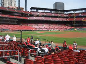 field level outfield busch stadium baseball seating