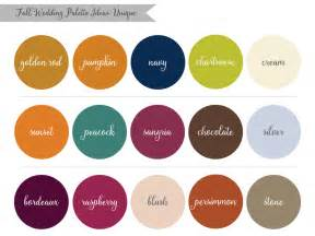 fall color pallet lauren rachel inspired by nature fall wedding palette ideas