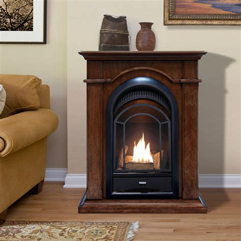 procom dual fuel ventless fireplace 15 000 btu s