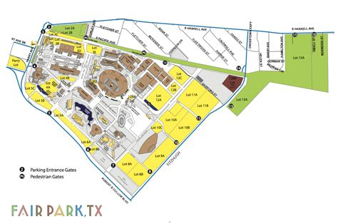 texas state fair parking map parking of dallas