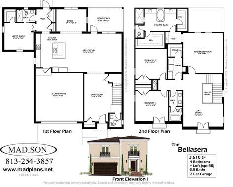 Madison Homes 187 The Bellaserafloor Plans Florida Floor Plans Great Room