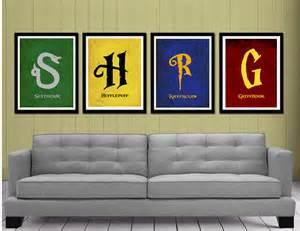 house colors harry potter harry potter houses minimalist posters 4 pack 183 coliseum